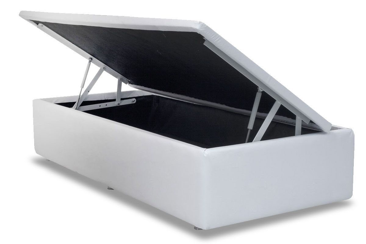 Cama Box Baú Ortobom Couríno Bianco- Box Baú Physical Solteiro - 0,88x1,88 - Inteiriça