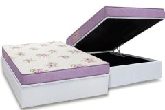Conjunto Box: Colchão Ortobom Physical Super Resistente + Cama Baú Courino White